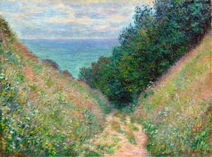 Impressionism painting reproductions: The Path At La Cavee  Pourville