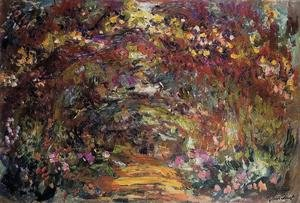 Famous paintings of Trees: The Path Under The Rose Trellises  Giverny