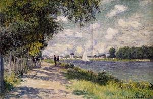 Famous paintings of Ships & Boats: The Seine At Argenteuil 2