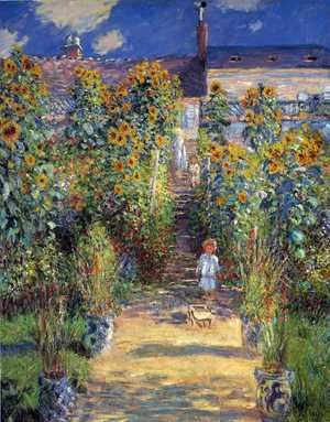 Impressionism painting reproductions: The Steps At Vetheuil
