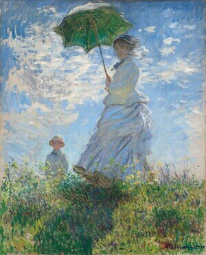 Famous paintings of People: The Walk  Woman With A Parasol