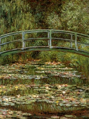 Famous paintings of Landscapes: The Water Lily Pond Aka Japanese Bridge