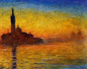 Famous paintings of Landscapes: Twilight  Venice