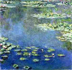 Impressionism painting reproductions: Water Lilies