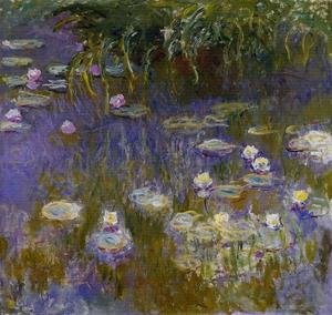 Impressionism painting reproductions: Yellow And Lilac Water Lilies