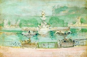 Famous paintings of Fountains: Fountain  Worlds Fair