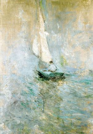 Famous paintings of Ships & Boats: Sailing In The Mist2