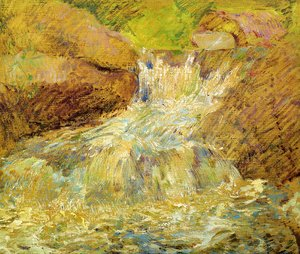 Impressionism painting reproductions: Waterfall  Greenwich