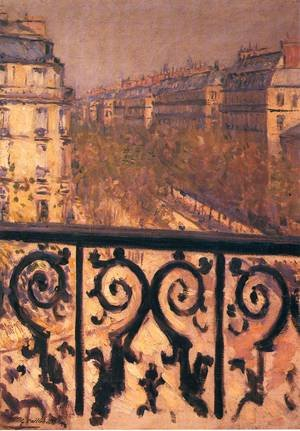Famous paintings of Trees: A Balcony In Paris