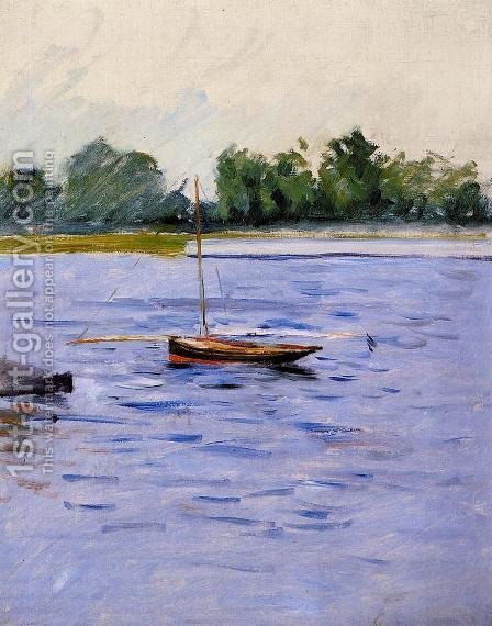Boat At Anchor On The Seine by Gustave Caillebotte - Reproduction Oil Painting