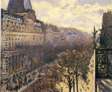 Gustave Caillebotte: Boulevard Des Italiens - reproduction oil painting