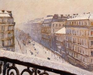 Reproduction oil paintings - Gustave Caillebotte - Boulevard Haussmann  Snow