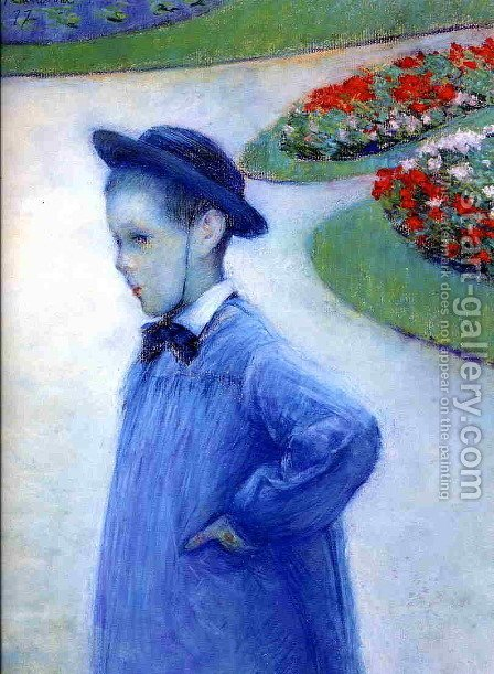 Camille Daurelle In The Park At Yerres by Gustave Caillebotte - Reproduction Oil Painting
