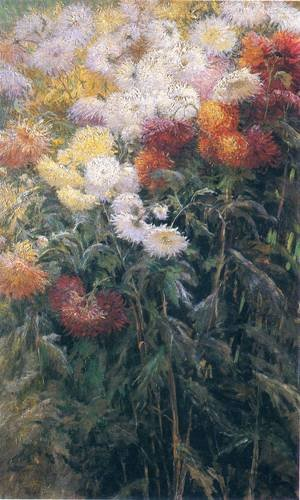 Reproduction oil paintings - Gustave Caillebotte - Chrysanthemums  Garden At Petit Gennevilliers