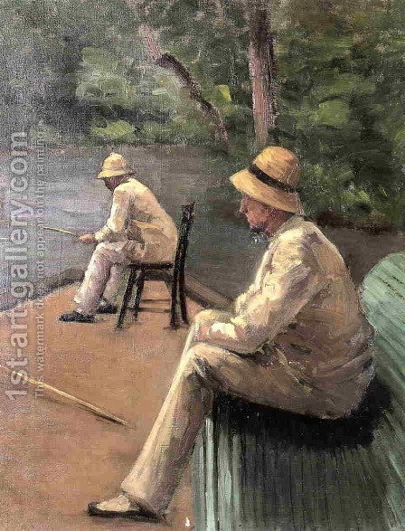 Fishermen On The Banks Of The Yerres by Gustave Caillebotte - Reproduction Oil Painting