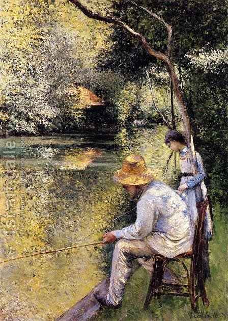 Fishing by Gustave Caillebotte - Reproduction Oil Painting