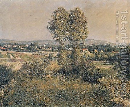 Landscape At Argenteuil by Gustave Caillebotte - Reproduction Oil Painting