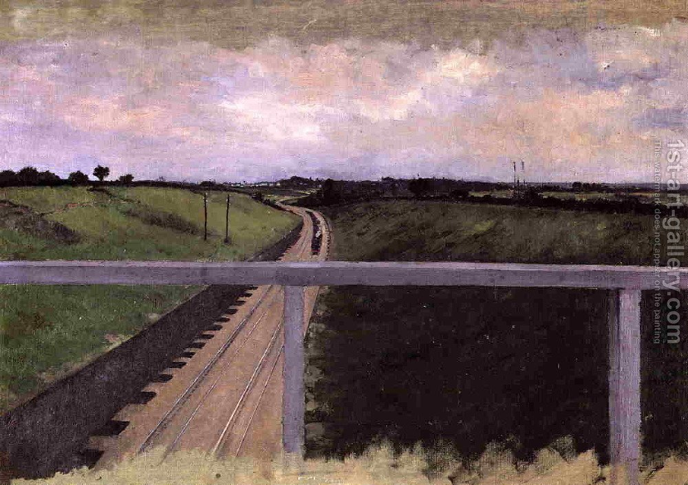Huge version of Landscape With Railway Tracks