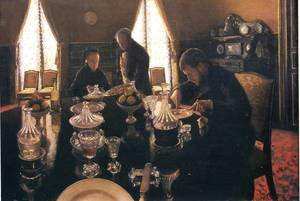Reproduction oil paintings - Gustave Caillebotte - Luncheon