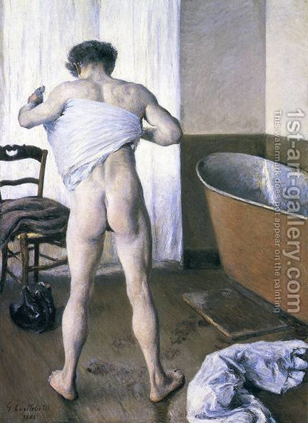 Man At His Bath by Gustave Caillebotte - Reproduction Oil Painting