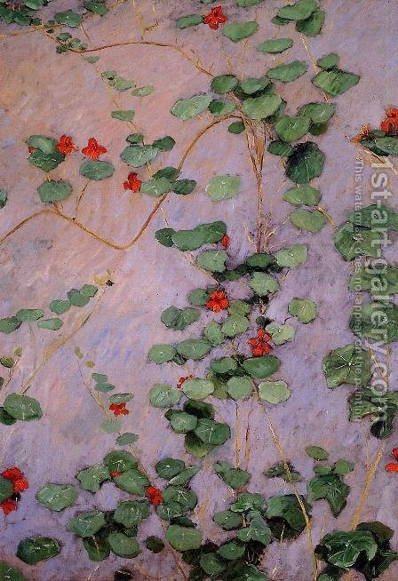 Nasturtiums by Gustave Caillebotte - Reproduction Oil Painting