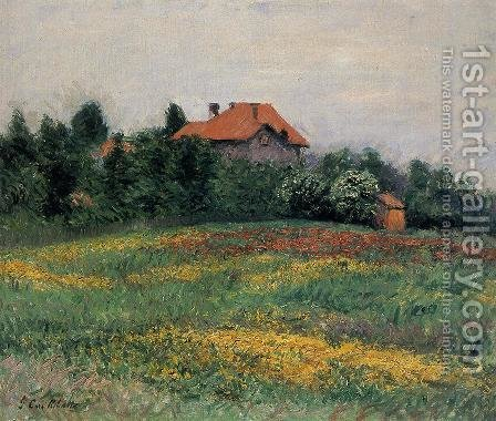 Norman Landscape by Gustave Caillebotte - Reproduction Oil Painting