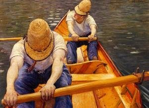Famous paintings of Ships & Boats: Oarsmen