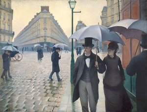 Gustave Caillebotte reproductions - Paris Street- Rainy Weather 1877