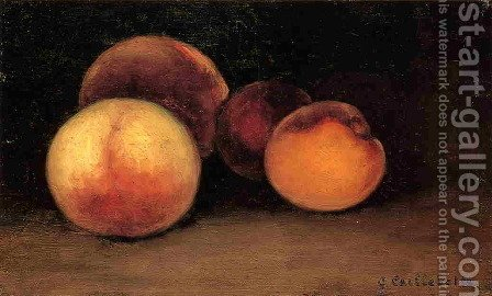 Peaches  Nectarines And Apricots by Gustave Caillebotte - Reproduction Oil Painting