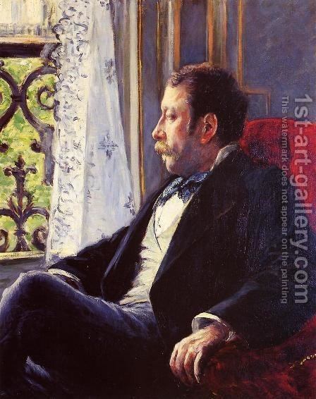 Portrait Of A Man2 by Gustave Caillebotte - Reproduction Oil Painting