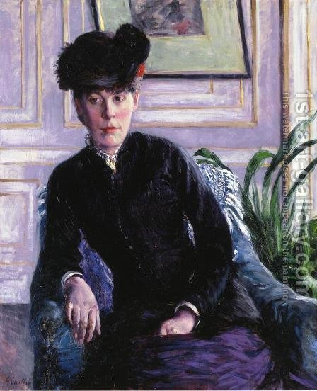 Portrait Of A Young Woman In An Interior Aka Portrait Of Madame H by Gustave Caillebotte - Reproduction Oil Painting