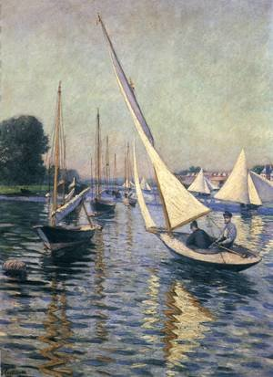 Famous paintings of Ships & Boats: Regatta At Argenteuil
