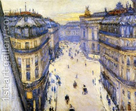 Rue Halevy  Seen From The Sixth Floor by Gustave Caillebotte - Reproduction Oil Painting