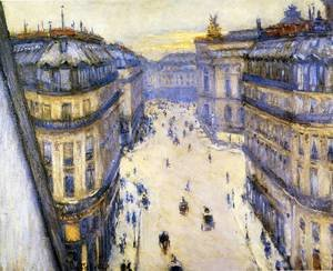 Reproduction oil paintings - Gustave Caillebotte - Rue Halevy  Seen From The Sixth Floor