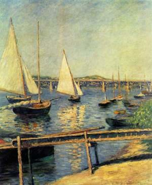Reproduction oil paintings - Gustave Caillebotte - Sailboats In Argenteuil