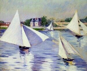 Reproduction oil paintings - Gustave Caillebotte - Sailboats On The Seine At Argenteuil
