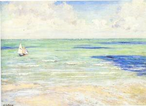 Famous paintings of Ships & Boats: Seascape  Regatta At Villers