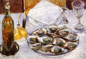 Reproduction oil paintings - Gustave Caillebotte - Still Life With Oysters