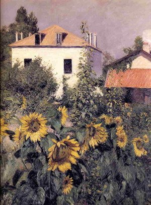 Reproduction oil paintings - Gustave Caillebotte - Sunflowers  Garden At Petit Gennevilliers