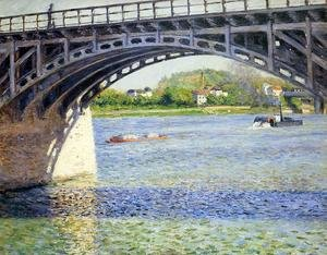 Reproduction oil paintings - Gustave Caillebotte - The Argenteuil Bridge And The Seine