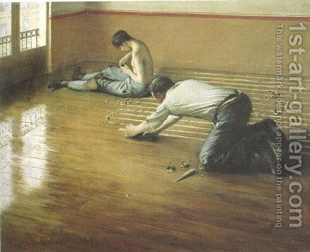 Gustave Caillebotte: The Floor Scrapers - reproduction oil painting