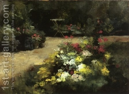 The Garden by Gustave Caillebotte - Reproduction Oil Painting