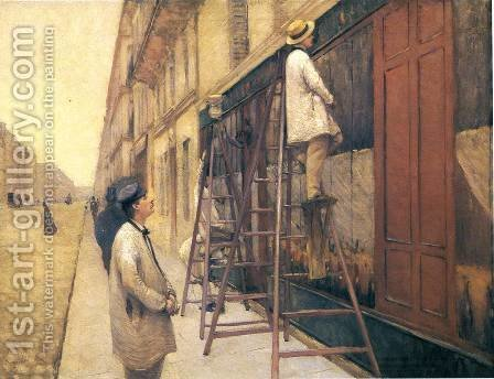The House Painters by Gustave Caillebotte - Reproduction Oil Painting