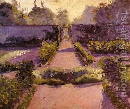 The Kitchen Garden  Yerres2 by Gustave Caillebotte - Reproduction Oil Painting