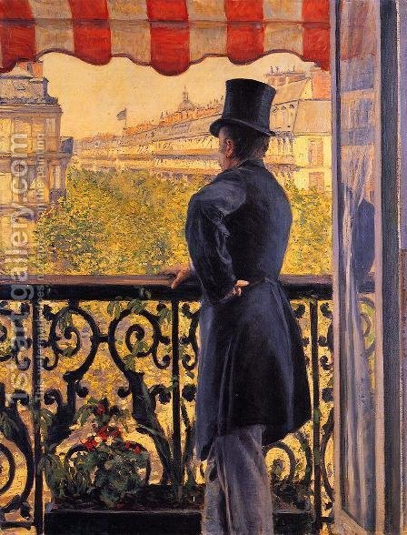 The Man On The Balcony by Gustave Caillebotte - Reproduction Oil Painting