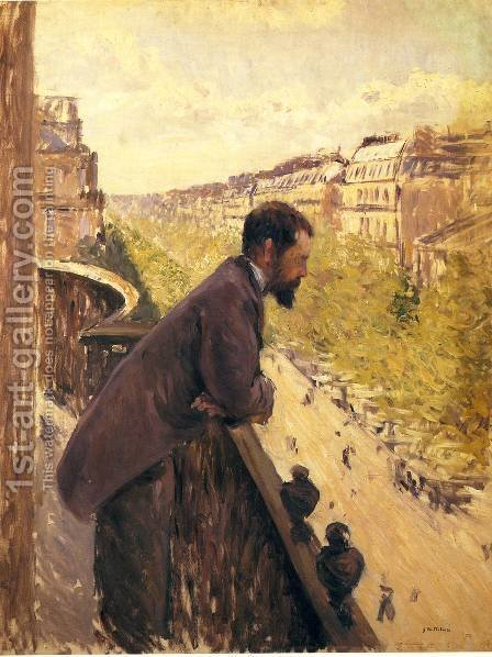 The Man On The Balcony2 by Gustave Caillebotte - Reproduction Oil Painting