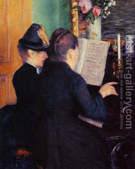 The Piano Lesson by Gustave Caillebotte - Reproduction Oil Painting