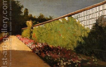 The Wall Of The Kitchen Garden  Yerres by Gustave Caillebotte - Reproduction Oil Painting