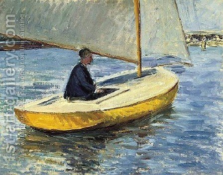 The Yellow Boat by Gustave Caillebotte - Reproduction Oil Painting