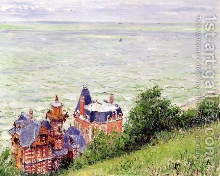 Villas At Trouville by Gustave Caillebotte - Reproduction Oil Painting